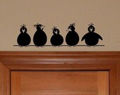 Vinyl Decals, Birds on a Wire wall art for nursery or entryway decor, Great for a diy project