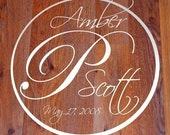 Personalized Wedding Monogram, dance floor vinyl decal sticker
