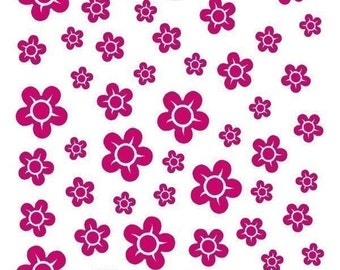 Cherry Blossoms - vinyl decals - set of 50 -  add on to any cherry blossom branch - floral wall art