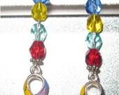 RESERVED FOR taraneh005  Autism Awareness dangle earrings