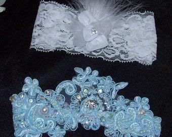 Something Blue,wedding,Bride,FREE toss garter,Lace Garter,Plus Size Garter,Plus Size Bride,Garter,Rhinestone Set,Plus Size,Beaded Garter