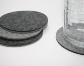 Round Coasters 5MM Thick Merino Wool Felt Round Coaster Set