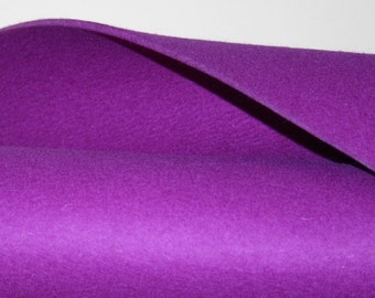 "3MM Thick Virgin Merino Wool Felt Fabric Felted Material Yardage- 36"" x 36""- in 19 colors"