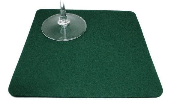 Square Trivet 5mm Thick Virgin Merino Wool Felt Fabric Eco Friendly Felted Pot Holders Tabletop Kitchen Serving