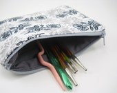 Zipper pouch-grey and black