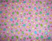 One Yard of Sweet Easter Fabric in Pink