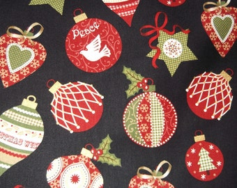 One Yard Of Brother and Sister Ornament Christmas Fabric
