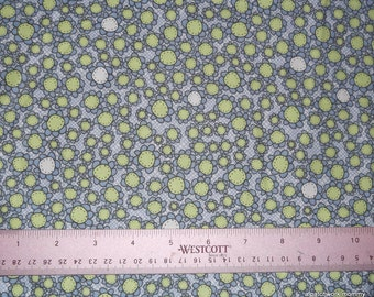 One Yard of Heidi Blue and Green Flower Fabric