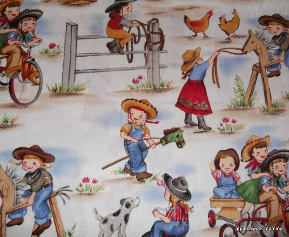 Half Yard of  Micheal Miller's Lil Cowgirls Fabric