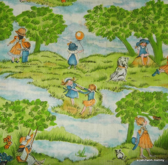 One Yard Fabric Featuring Artwork by Holly Hobbie