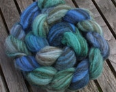 Humbug Shetland roving in 'Shallows': 100g wool for spinning or felting