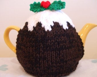 Knitted Medium Christmas Pudding Tea Cosy Cosies *FREE UK POSTAGE