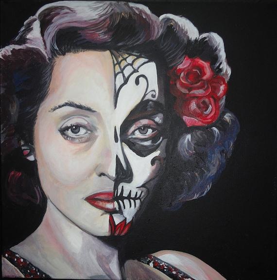 La Otra - Portrait of Bette Davis (Day of the Dead/Dia de los Muertos Style)