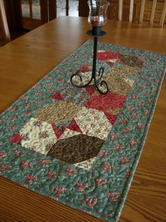 Friendship Floral Table Runner Table Topper Wall Hanging