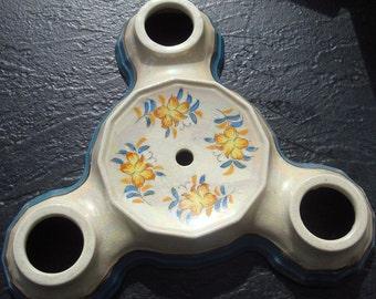 Ceiling Light Fixture, SALE, RARE Japanese Porcelain Lusterware,1950s, Flowers, Eggshell, Yellow, Orange, Blue