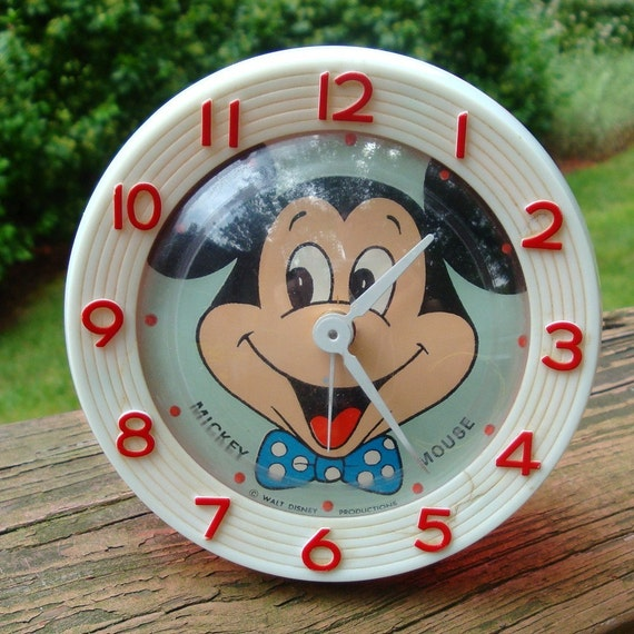 Vintage Disney Mickey Phinney Walker Alarm By