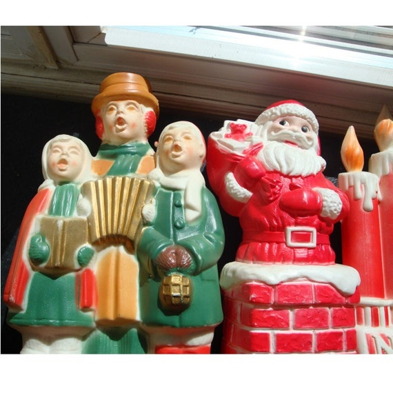Christmas Carolers Yard Decorations: Vintage Outdoor Christmas Display By VintageStarrBeads On Etsy