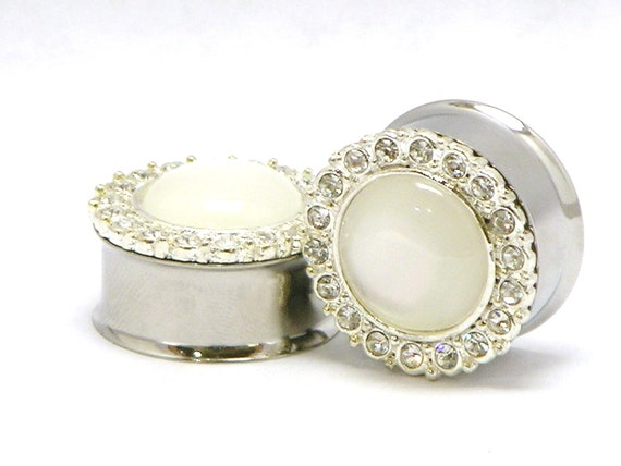 "Diamond Wedding Plugs 3/4"" 7/8"" 1"" 19mm 22mm 25mm"