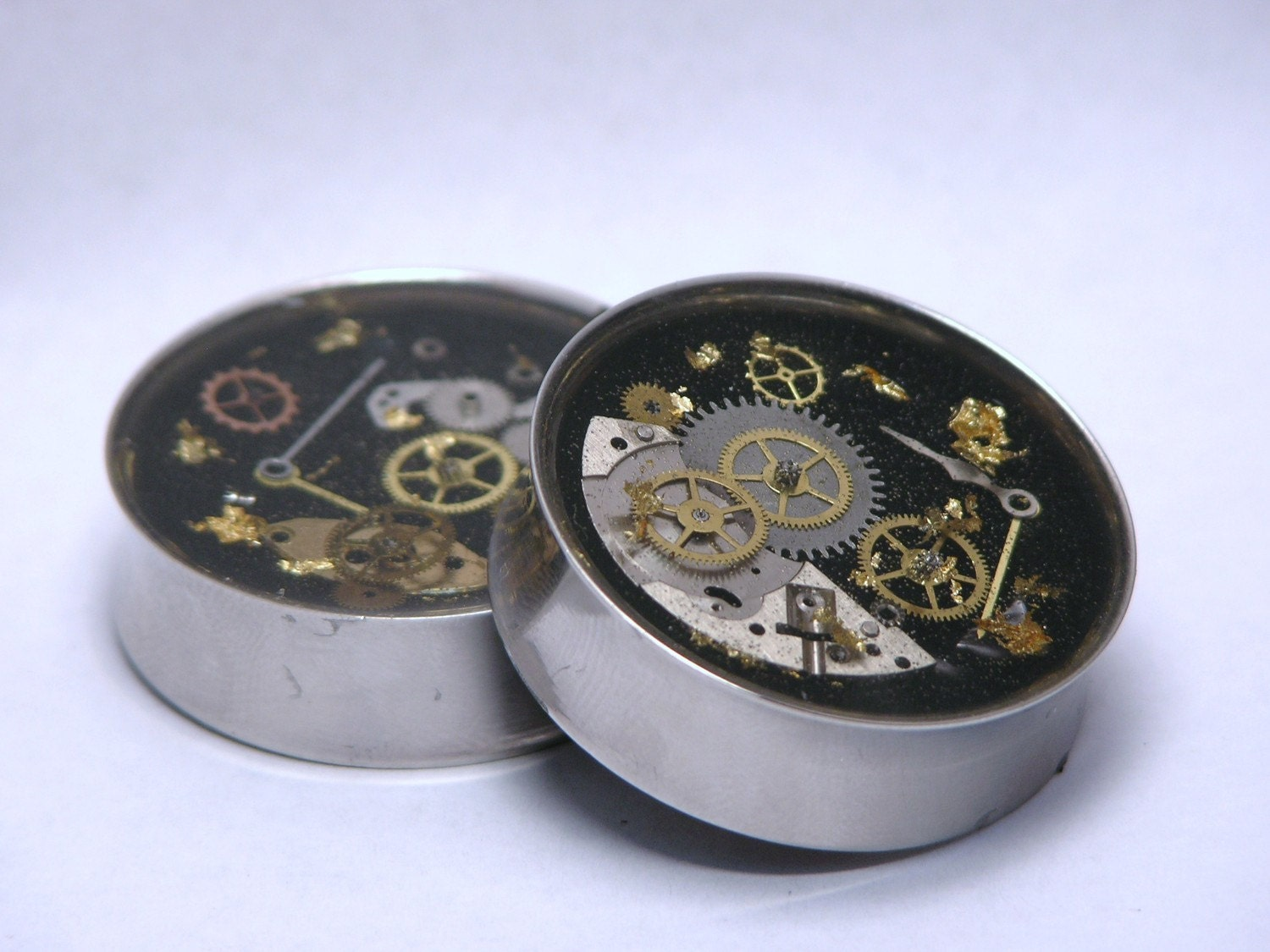 Steampunk Plugs 00 Gauge to 1 Inch 6mm to 25mm