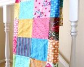 Modern Workshop Patchwork Baby Blanket