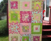 Girly Girl Art Gallery Quilt -- Throw Size
