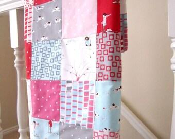 Sherbet Pips Patchwork Baby Blanket