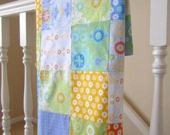 Ivy Trellis Patchwork Baby Blanket
