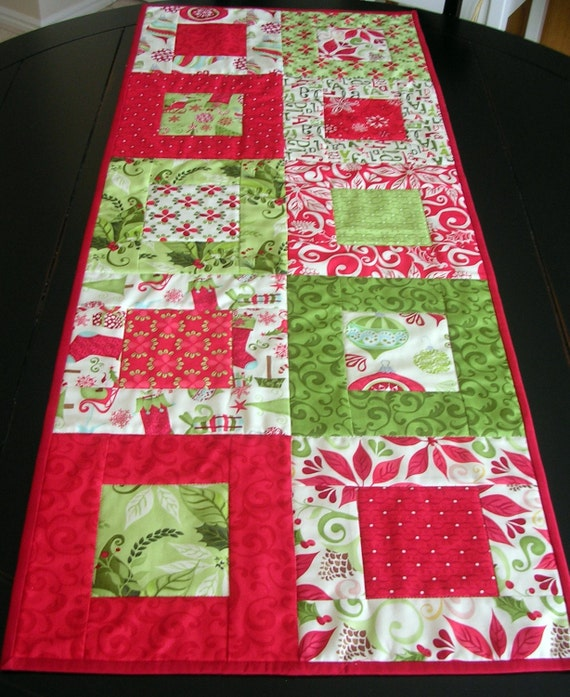 Twelve Days of Christmas Quilted Table Runner