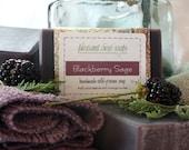 Blackberry Sage Handmade Soap Cold-Process Bar