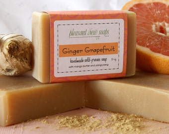 Ginger Grapefruit Soap Cold-Process Bar with Jersey milk