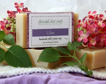 Lilac Soap Goat's Milk Cold-Process Bar