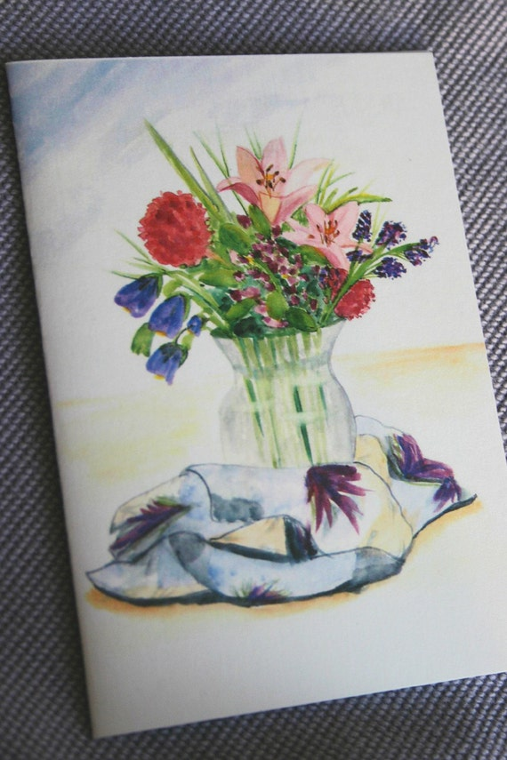 Spring Bouquet Watercolor Notecards Set of 6