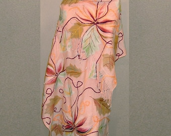 Needle felted wrap shawl