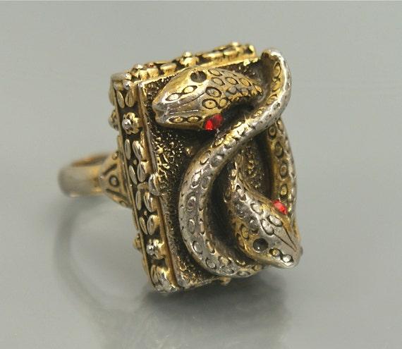vintage snake ring poison ring fashion