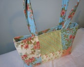 Small Quilted Charm Handbag in April Cornell Fabric