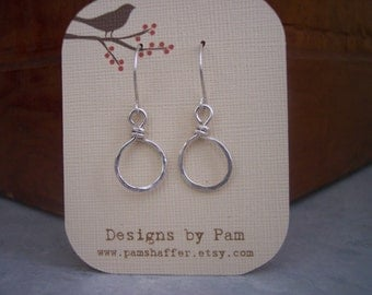 Tiny Sterling Silver Hoops