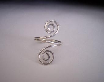 Sterling Silver Swirly Ring