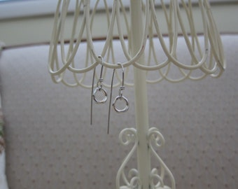 Organic Silver Hoops