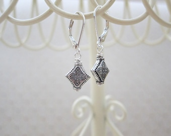 Tibetan Silver Leverback Earrings