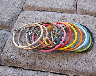 Leather Bracelet Choice of Color (3MM)-1X