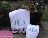Monogrammed Personalized Towel Set