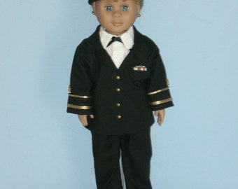 Service Uniform for 18 in Doll