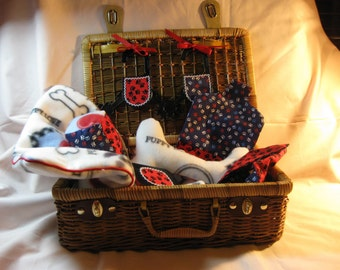 Custom Puppy Goes a Traveling Suitcase Set (Your Choice of Fabric)