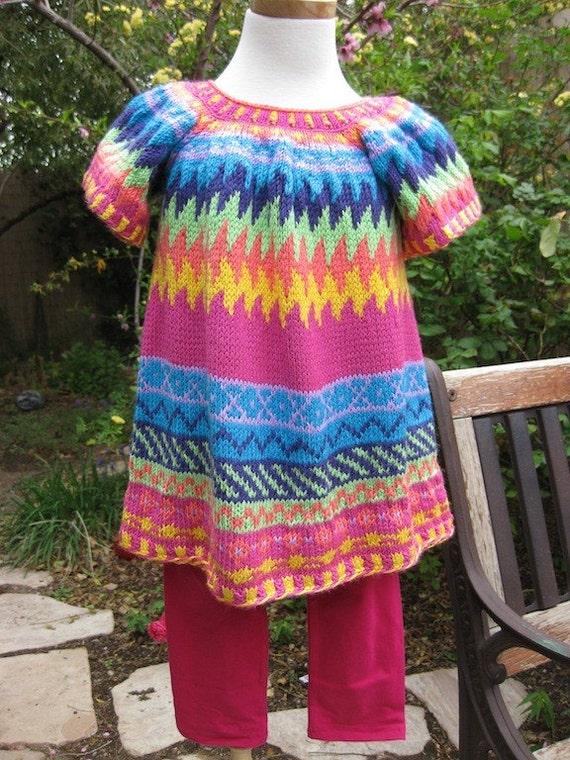 Razzle Girl Hand Knit Dress
