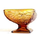 Vintage iridescent marigold depression glass trinket dish
