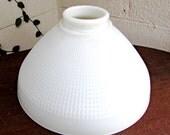 Vintage large Corning milk glass lamp shade