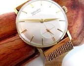 Vintage Gruen Precision mens wristwatch