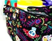 Day of the Dead Reusable Shopping Bag - folds to wallet size