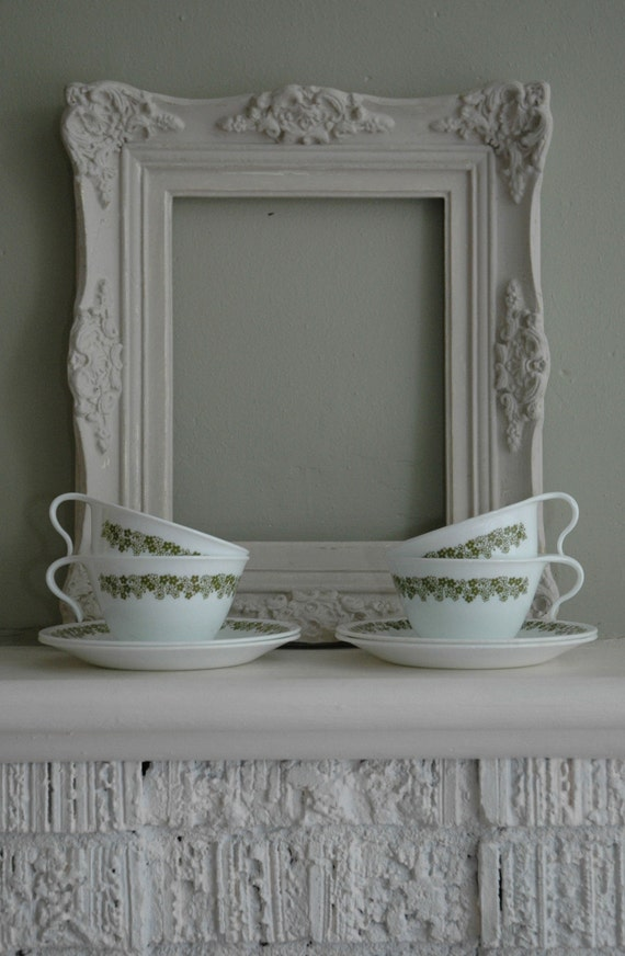 Corelle Crazy Daisy Cups and Saucers Set