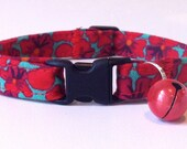 Safety Cat Collar, Comfotable and Adjustable in Poppy Red